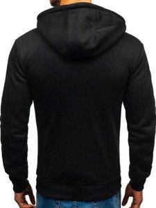 Bluza męska z kapturem rozpinana czarna Denley 33020