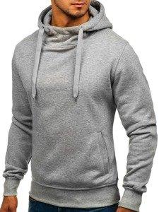 Bluza męska z kapturem szara Denley 2072