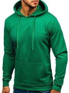 Bluza męska z kapturem zielona Bolf 5361