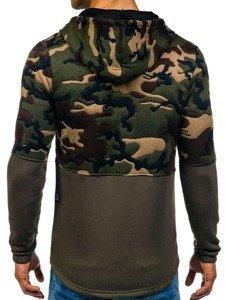 Bluza męska z kapturem zielona Denley 9109