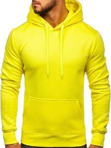 Bluza męska z kapturem żółty-neon Denley 2009
