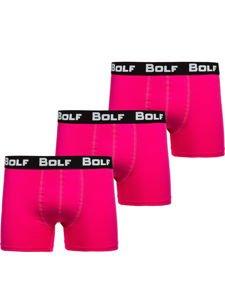 Bokserki męskie różowe Bolf 0953-3P 3 PACK