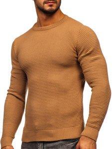 Brązowy sweter męski Denley 4604