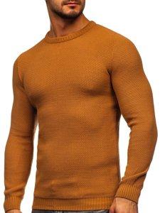 Brązowy sweter męski Denley 4629