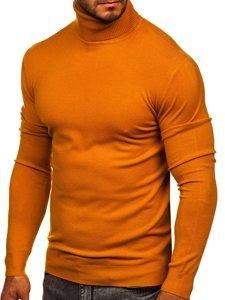Camelowy golf sweter męski bez nadruku Denley YY02