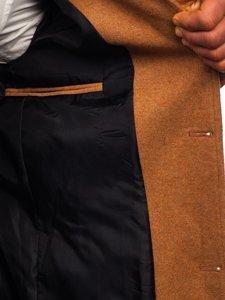 Camelowy płaszcz męski zimowy Denley 0010
