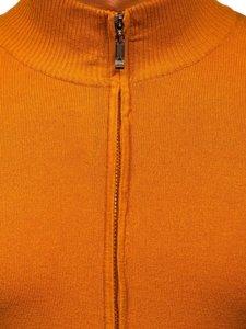 Camelowy rozpinany sweter męski Denley YY07
