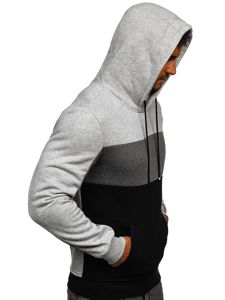 Czarna bluza męska z kapturem Denley KS2162