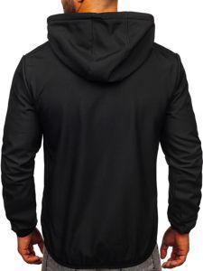 Czarna kurtka męska przejściowa softshell Denley KS2195