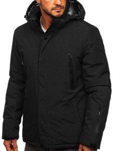 Czarna narciarska kurtka męska zimowa sportowa Denley 9801