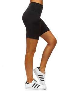 Czarne krótkie legginsy damskie Denley 54548