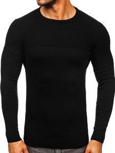 Czarny sweter męski Denley 4623