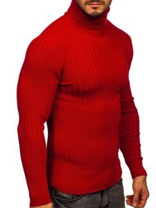 Czerwony sweter męski golf Denley 4602