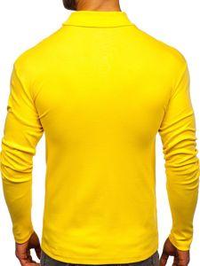 Golf męski bez nadruku żółty Bolf 145347