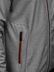 Grafitowa kurtka męska przejściowa softshell Denley KS2198