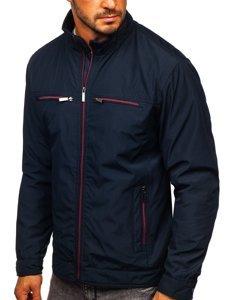 Granatowa kurtka męska przejściowa elegancka Denley 6362