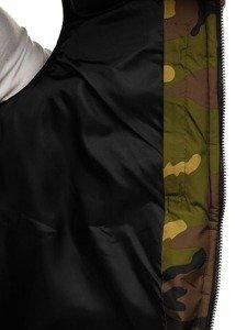 Kamizelka męska z kapturem zielona Denley 5381