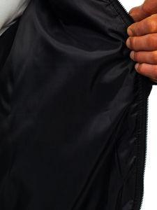 Khaki przejściowa kurtka męska pikowana bomberka Denley MY-01