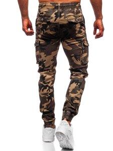 Khaki spodnie joggery bojówki męskie moro Denley CT6019