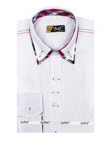 Koszula męska elegancka z długim rękawem biała Bolf 2705