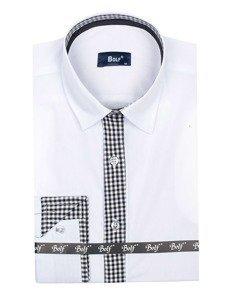 Koszula męska elegancka z długim rękawem biała Bolf 6873