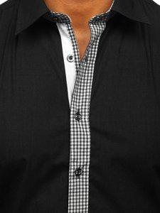 Koszula męska elegancka z długim rękawem czarna Bolf 6873
