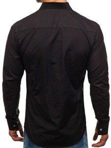 Koszula męska elegancka z długim rękawem czarna Bolf 6943
