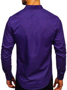 Koszula męska elegancka z długim rękawem fioletowa Bolf 1703