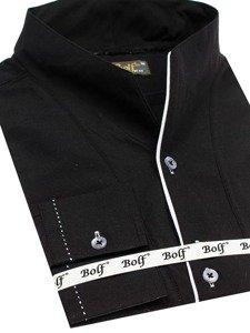 Koszula męska z długim rękawem czarna Bolf 5720