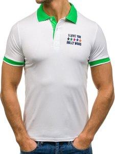 Koszulka polo męska biała Denley X123