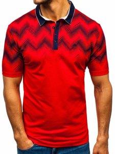 Koszulka polo męska czerwona Denley 6601