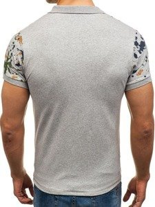 Koszulka polo męska szara Denley 1106