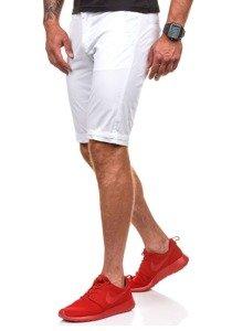 Krótkie spodenki męskie białe Denley 3508