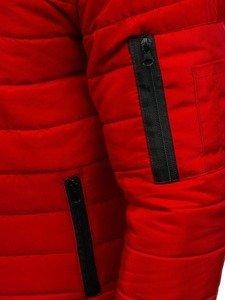 Kurtka męska przejściowa bomberka czerwona Denley AK84