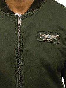 Kurtka męska przejściowa bomberka zielona Denley 5162