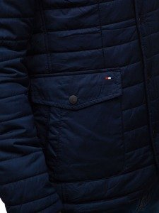 Kurtka męska przejściowa elegancka granatowa Denley EX201
