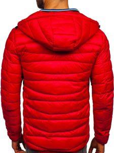 Kurtka męska przejściowa pikowana czerwona Denley 1139