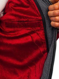 Kurtka męska przejściowa sportowa pikowana bordowa Denley 50A199