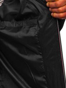 Kurtka męska przejściowa sportowa pikowana czarna Denley 50A215