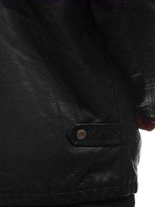 Kurtka męska skórzana czarna Denley 293