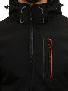 Kurtka męska softshell czarno-pomarańczowa Denley 6602