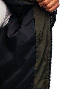 Kurtka męska zimowa bomberka pikowana zielona Denley 5366