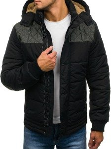 Kurtka męska zimowa czarna Denley 3107