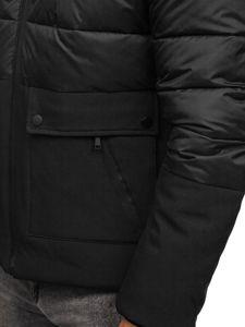Kurtka męska zimowa czarna Denley B1280