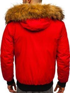 Kurtka męska zimowa czerwona Denley 2019