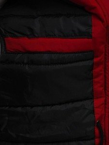 Kurtka męska zimowa parka czerwona Denley 4602