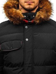 Kurtka męska zimowa pikowana czarna Denley 5287