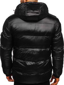 Kurtka męska zimowa sportowa pikowana czarna Denley K65