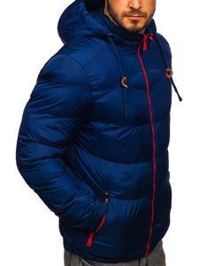 Kurtka męska zimowa sportowa pikowana granatowa Denley 50A156