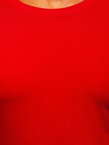 Longsleeve męski bez nadruku czerwony Denley 2088L